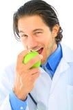зеленый цвет еды доктора яблока кавказский Стоковая Фотография