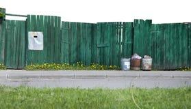 зеленый цвет загородки стоковое изображение rf