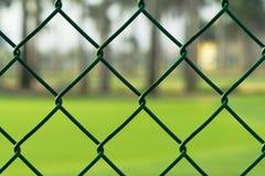 зеленый цвет загородки chainlink Стоковое Фото