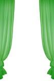 зеленый цвет занавеса Стоковая Фотография