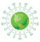 зеленый цвет земли относящий к окружающей среде Стоковое Изображение