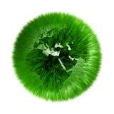 зеленый цвет земли относящим к окружающей среде засеванный травой глобусом бесплатная иллюстрация