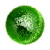 зеленый цвет земли относящим к окружающей среде засеванный травой глобусом иллюстрация вектора