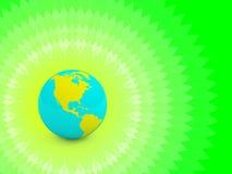 зеленый цвет земли принципиальной схемы Стоковая Фотография RF