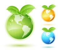 зеленый цвет земли принципиальной схемы Стоковая Фотография
