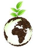 зеленый цвет земли принципиальной схемы Стоковые Изображения