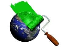 зеленый цвет земли Стоковые Изображения RF