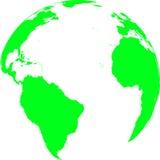 зеленый цвет земли Стоковые Изображения