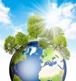 зеленый цвет земли Стоковое Фото