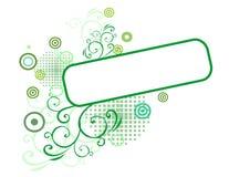 зеленый цвет знамени Стоковые Изображения RF