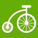 Зеленый цвет значка велосипеда детей иллюстрация штока