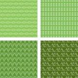 Зеленый цвет известки безшовной картины Doodle установленный Стоковое Изображение