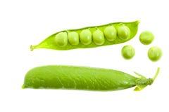 зеленый цвет изолировал горохи Стоковая Фотография