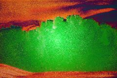 Зеленый цвет и апельсин изображения песка Стоковые Фотографии RF