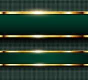 Зеленый цвет и золото предпосылки дела Стоковое Изображение RF