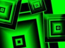 Зеленый цвет и черные алмазы Стоковое Изображение RF
