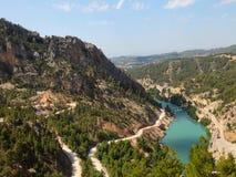 зеленый цвет каньона стоковая фотография