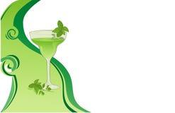зеленый цвет карточки напитка Стоковые Изображения
