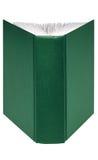 зеленый цвет книги открытый стоковая фотография rf