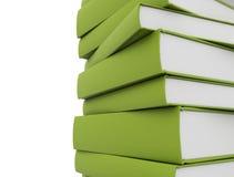 зеленый цвет книг Стоковые Изображения