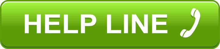 Зеленый цвет кнопки сети горячей линии иллюстрация вектора