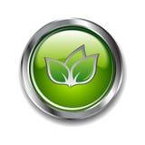 зеленый цвет кнопки Стоковые Фотографии RF