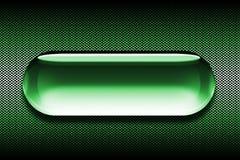 зеленый цвет кнопки Стоковая Фотография RF