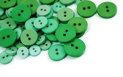 зеленый цвет кнопок Стоковое Изображение RF
