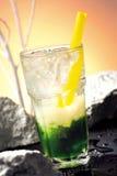 зеленый цвет коктеила Стоковые Фотографии RF