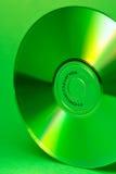 зеленый цвет компактного диска Стоковая Фотография RF