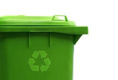 зеленый цвет контейнера рециркулирует Стоковое фото RF