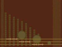 зеленый цвет коричневого цвета предпосылки стрелки Стоковое Изображение