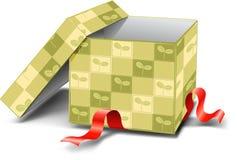 зеленый цвет коробки Иллюстрация штока