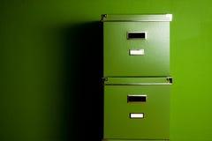 зеленый цвет коробок Стоковое фото RF
