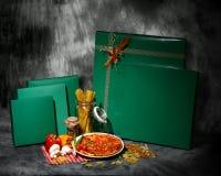 зеленый цвет коробок стоковое изображение rf