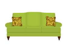 зеленый цвет кресла Стоковые Фотографии RF