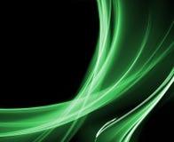 зеленый цвет кривых Стоковое Изображение