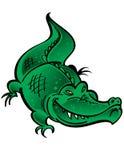 зеленый цвет крокодила Стоковое Изображение