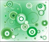 зеленый цвет круга предпосылки Стоковые Изображения RF