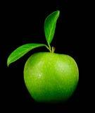 зеленый цвет крупного плана яблока свежий Стоковые Изображения