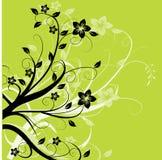 зеленый цвет листва предпосылки иллюстрация штока