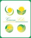 зеленый цвет любит логосы иллюстрация штока