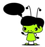 зеленый цвет мальчика Стоковое Фото