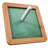 зеленый цвет мелка доски иллюстрация вектора