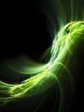 Зеленый цвет на черном абстрактном элементе предпосылки Стоковое Изображение RF