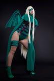 зеленый цвет неистовства costume характера anime cosplay Стоковые Фотографии RF