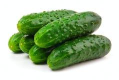 зеленый цвет огурцов Стоковое Изображение
