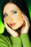 зеленый цвет одно Стоковое Фото