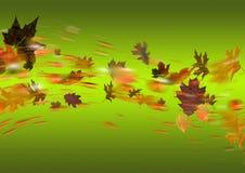 Зеленый цвет осени иллюстрация штока