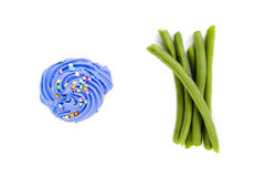 зеленый цвет пирожня фасолей Стоковое фото RF
